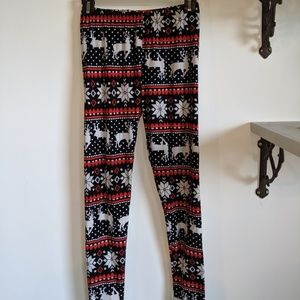 Fine Design OS Christmas print leggings